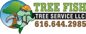 Tree Fish Tree Service Logo Blk Outline